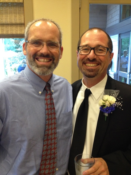 The father of the bride was our best man…just  a couple of years ago, right?