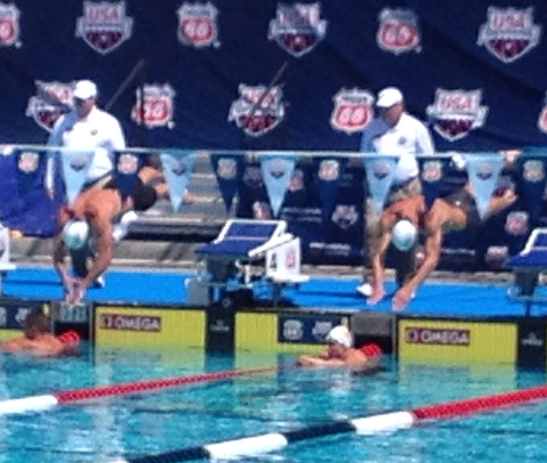 Oh yeah, we got to see Lochte and Phelps compete  too.