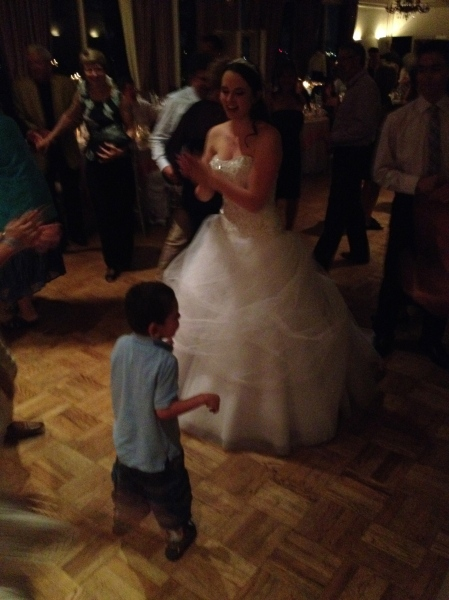 Rudy braved the dance floor and even got a turn with the bride!!
