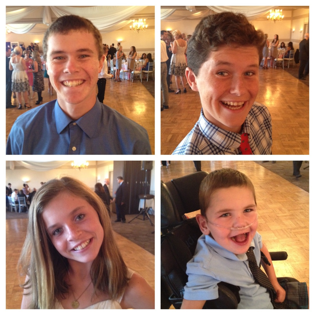 Last but not least, we cleaned up again for Amy and Andrea's wedding…everyone was all smiles and READY TO PARTY!!!
