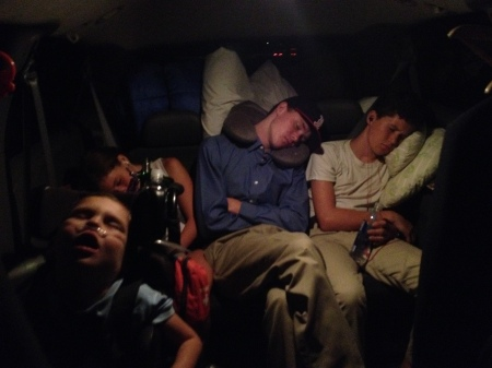 It didn't take long for all four to fall fast asleep on our final push for Santa Barbara at 1am…the mark of a well executed vacation!