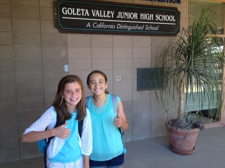 Olivia and Dahlia giving us the 7th grade thumbs up!!