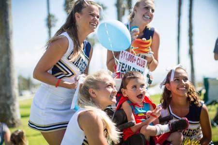 and the Varsity cheerleaders!