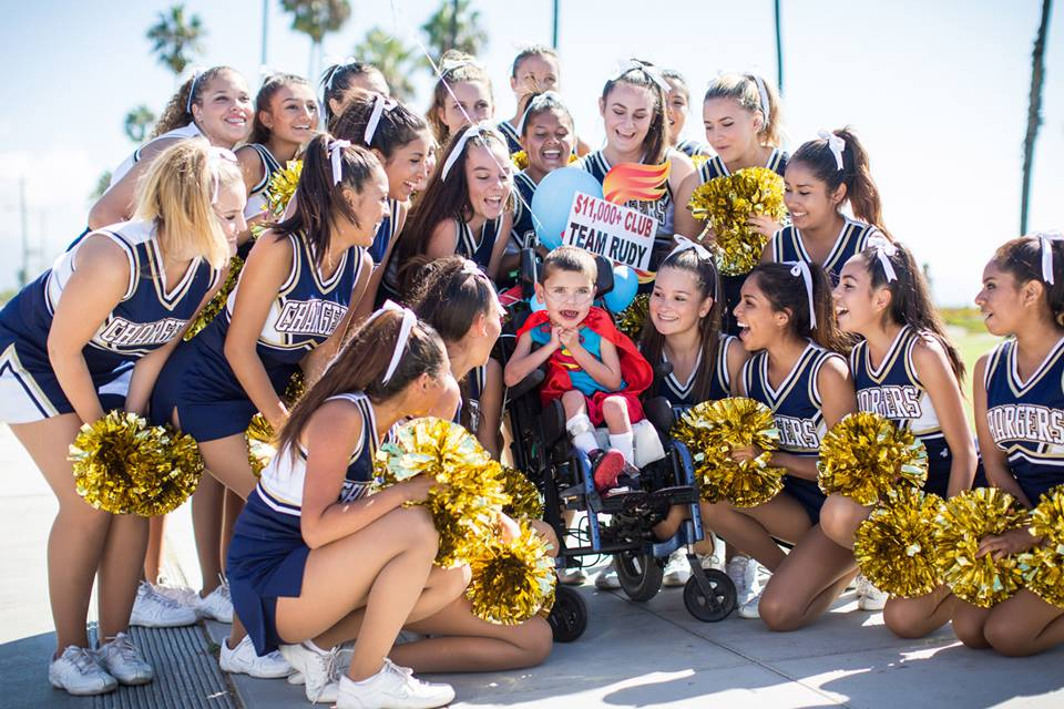 Rudy and the Dos Pueblos JV Cheerleaders!
