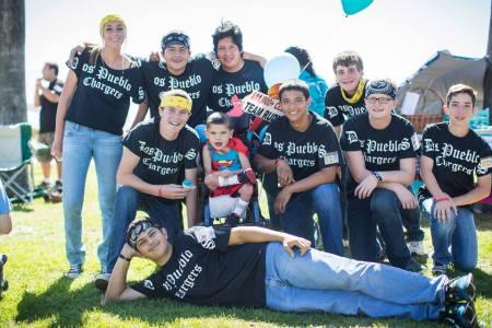 Rudy and the Dos Pueblos drum line!