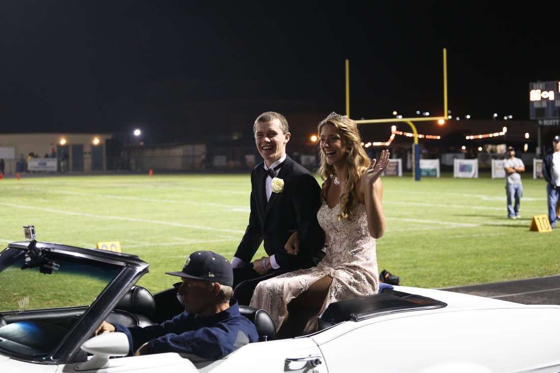 Wilson was homecoming royalty at Friday's game - one of the nominated princes!