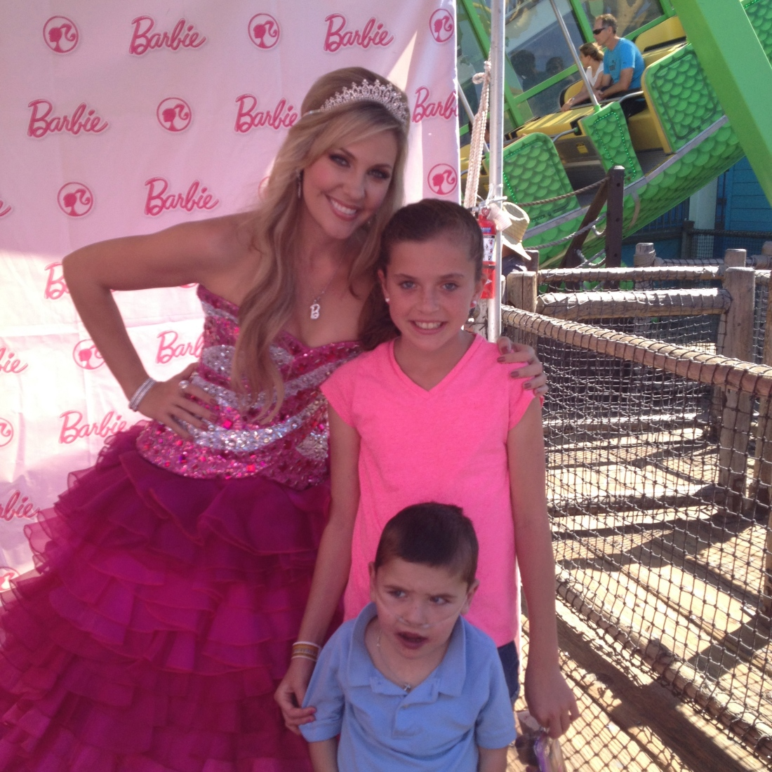 "You can't go to a Mattel event and NOT stop to say ""hi"" to Barbie..."