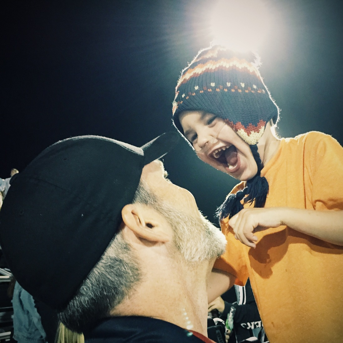 """Friday Night Lights"" - Geyling Style!  Rudy and Rolf at DP's Homecoming Football Game..."