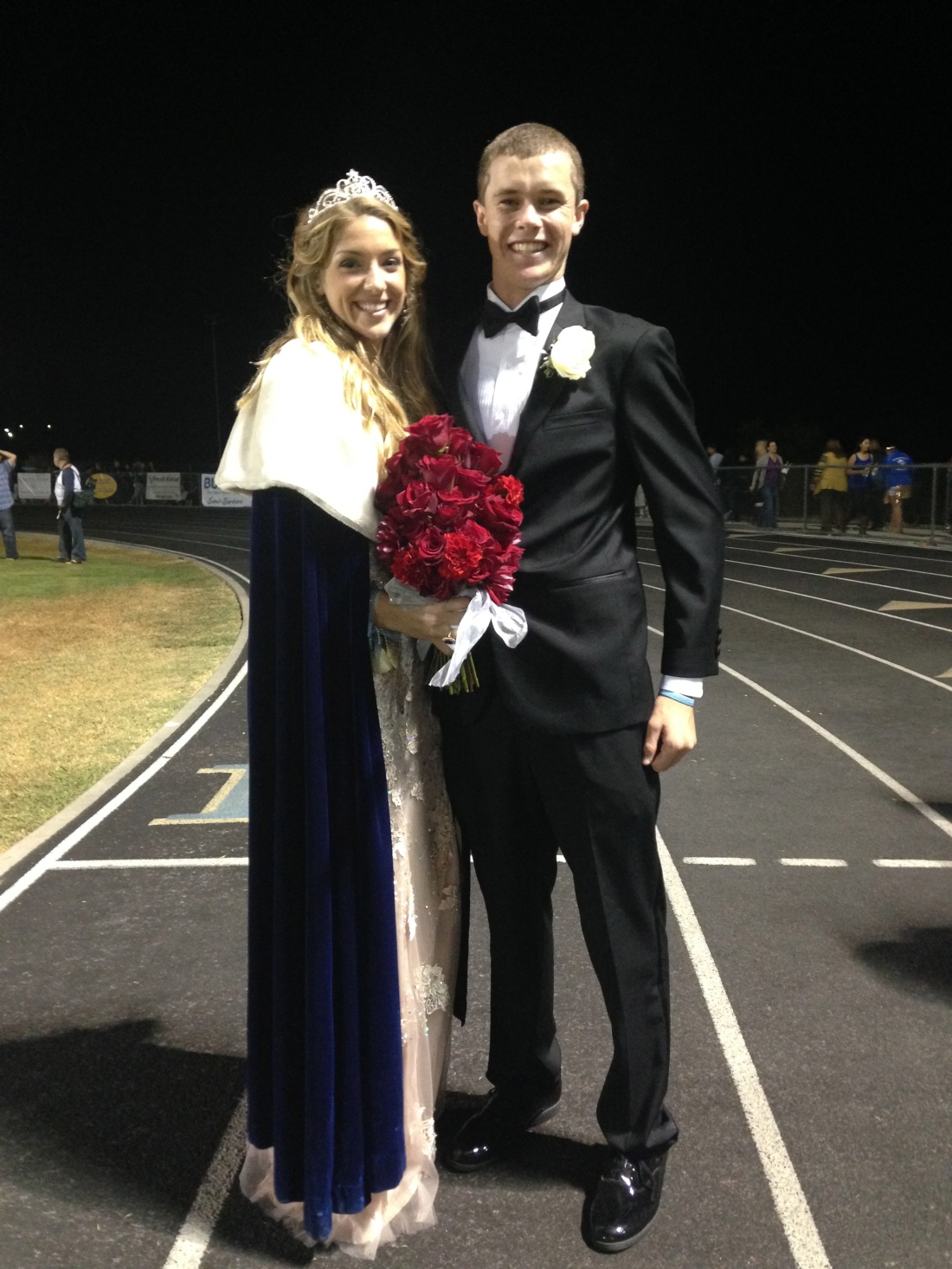 The princess with whom he was paired (and good friend Natalie) was crowned Homecoming Queen.  So fun!!