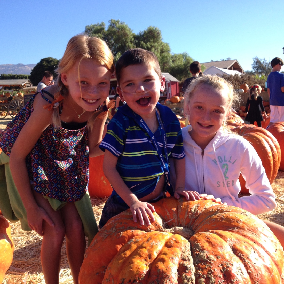 Rudy's class got to go to the local pumpkin patch on Friday with their 6th grade big buddies!  Rudy was well taken care of!  :)  So fun!!!