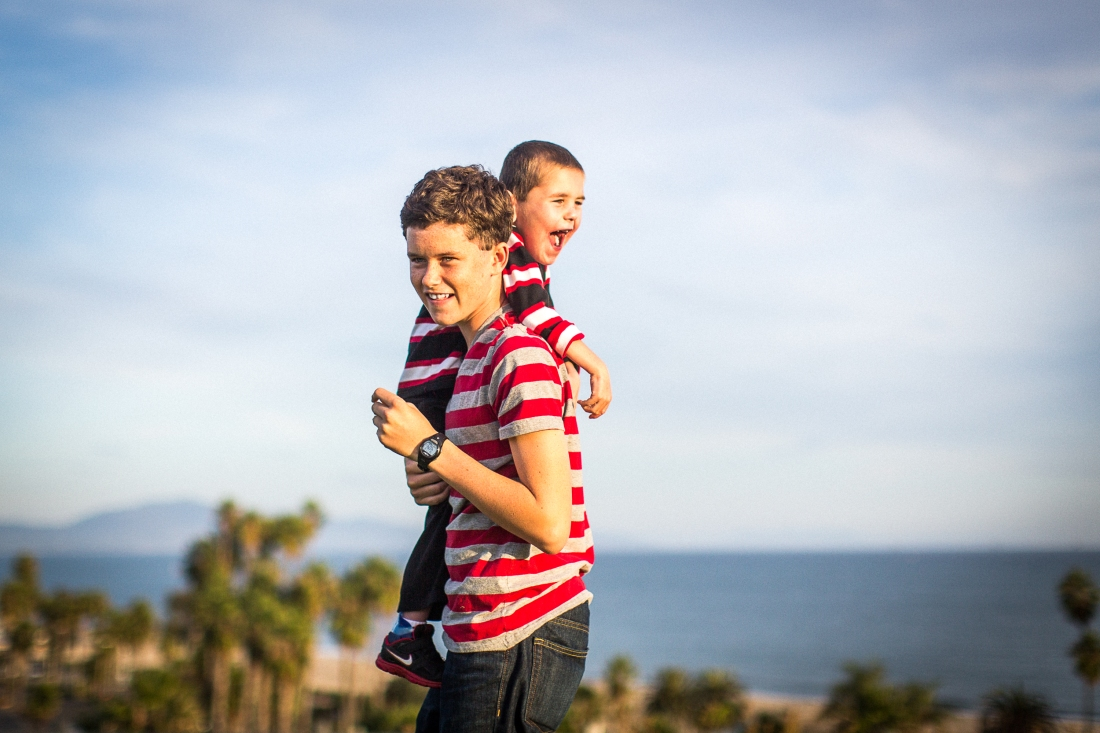 A favorite candid shot during a family photo shoot at SBCC.