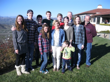 Family photo at the Reagan Presidential Library