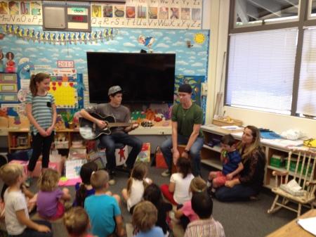 Fun with Rudy's classmates.