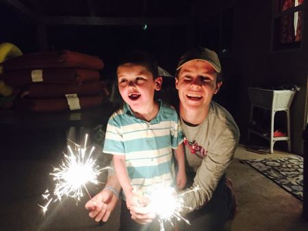 Birthday sparklers…thanks to Bob and Michele Fitch!  :)