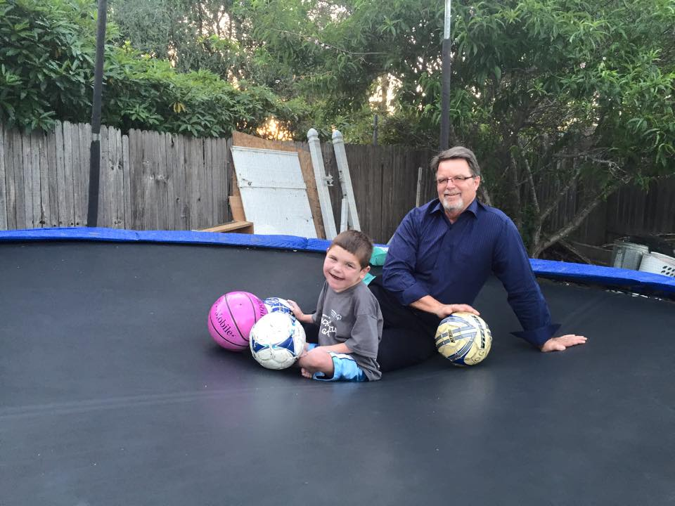 Post Special Olympics fun with Bob…in the trampoline, of course!