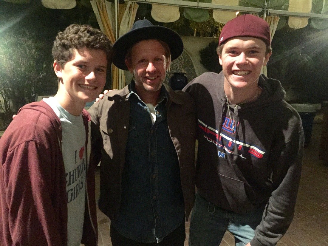 That same night, Rolf and the big boys attended John Foreman's concert (lead singer of Switchfoot)…the boys were pretty thrilled at the VIP meet and greet following the concert!