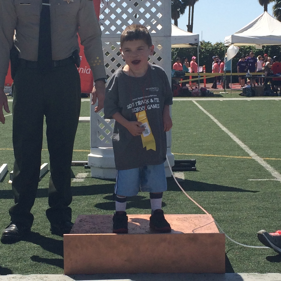 Rudy made it to the podium for a bronze ribbon.  :)