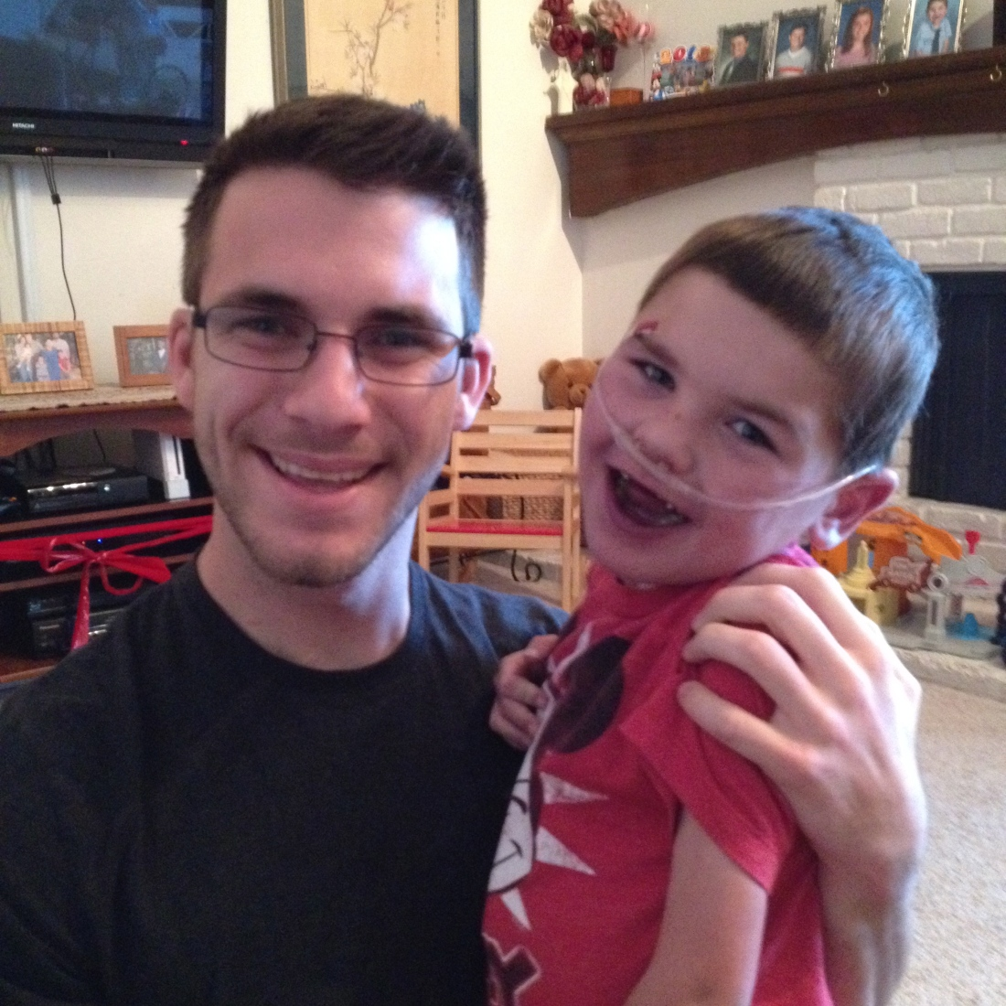A visit with cousin Josh from Alabama helped kick off the official start of spring with lots of laughs and tackles!