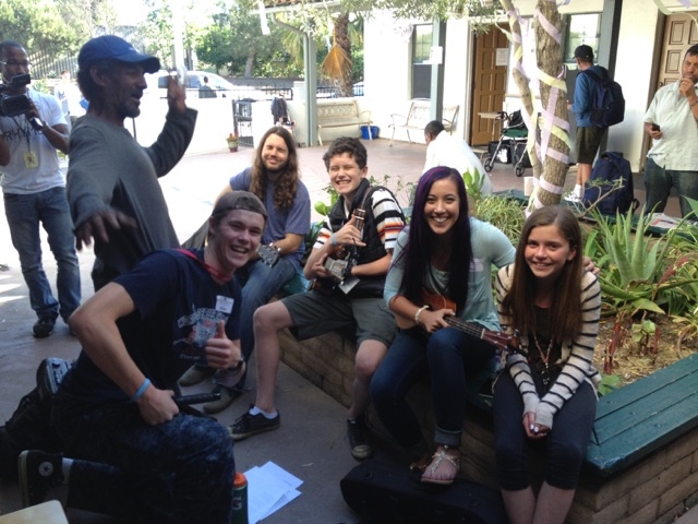 "It was ""all hands on deck"" yesterday for the SBRM Easter Feast.  Wilson, Max, Olivia, SBRM staffer Olivia and two guests created an impromptu worship team that rocked it in the courtyard!..."