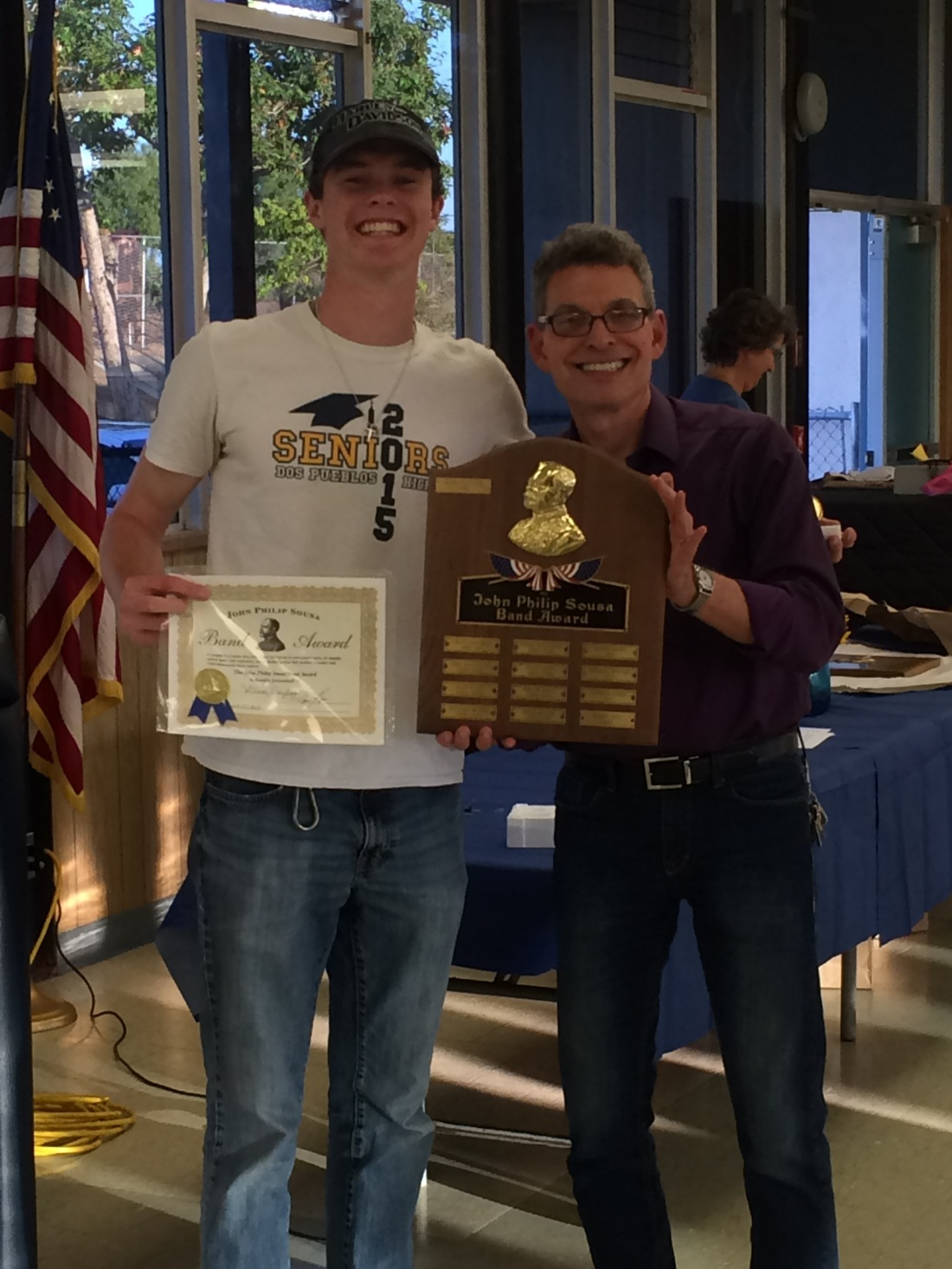 The following week at the DPHS Music Banquet, Wilson was awarded the John Philip Sousa Award by his band director...a high honor given for both musical excellence and character.