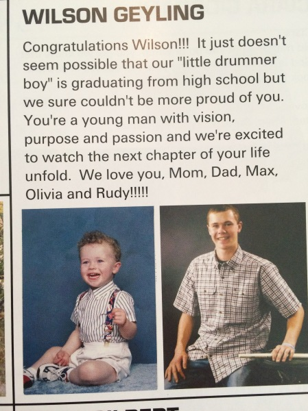 Yearbook Baby Ad :)
