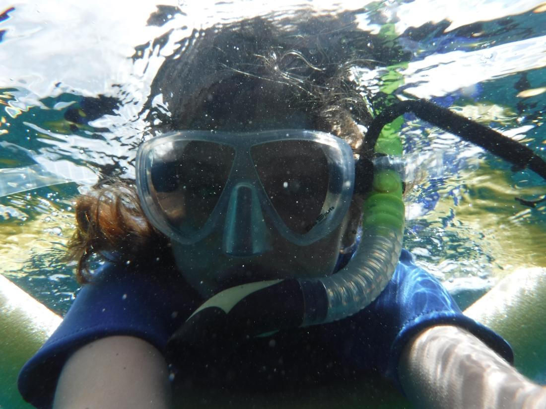 Olivia's underwater selfie.