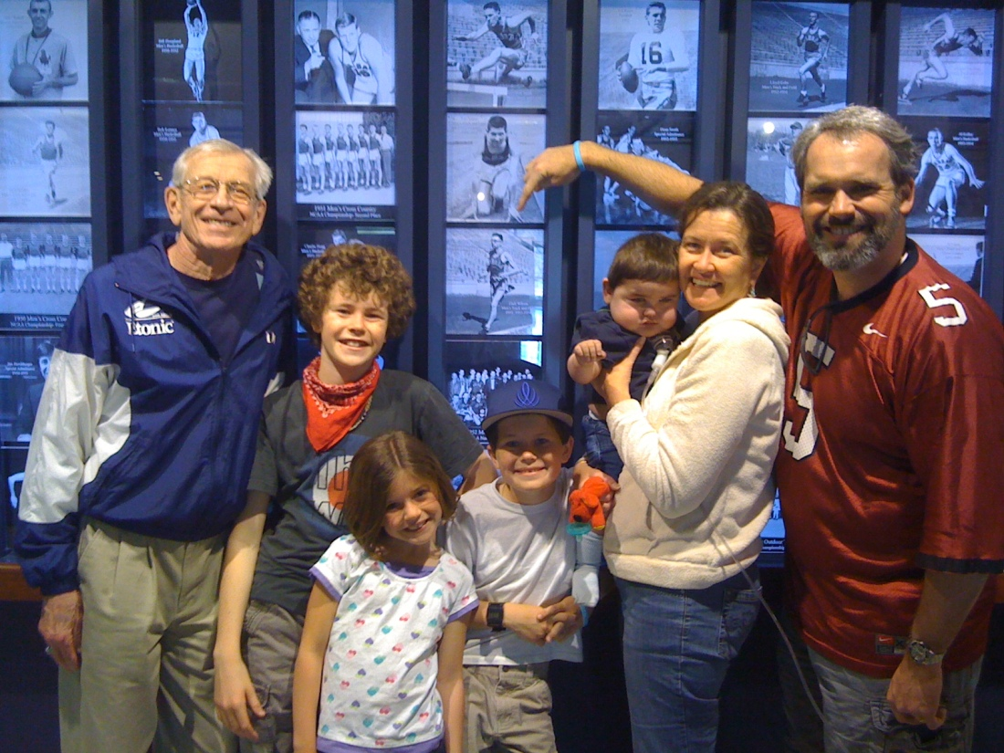With Dad at the KU Hall of Fame...spring 2010
