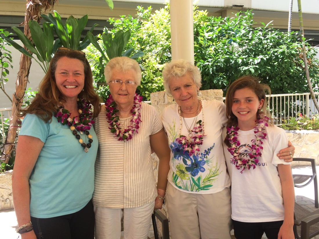 The gals enjoyed a lei-making class!