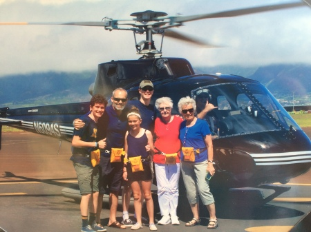 "A last minute add on to the itinerary was a helicopter tour...Rudy and I hung back at the condo but the rest of the crew enjoyed this ""once-in-a-lifetime"" experience!"
