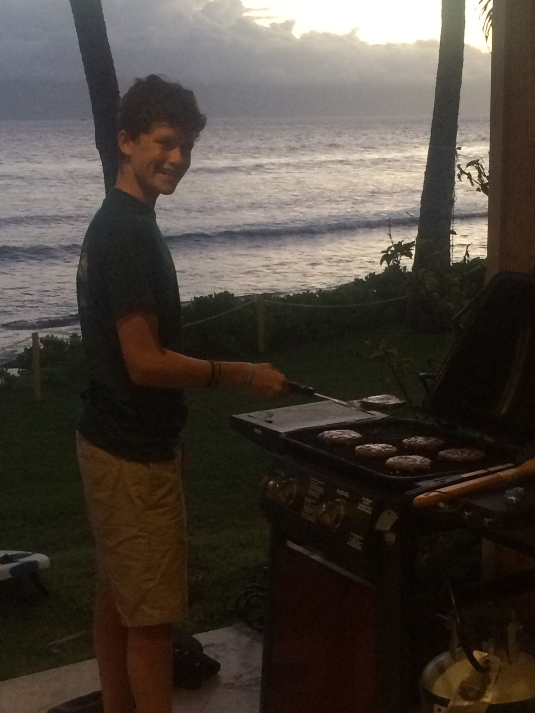 Max the grill master.