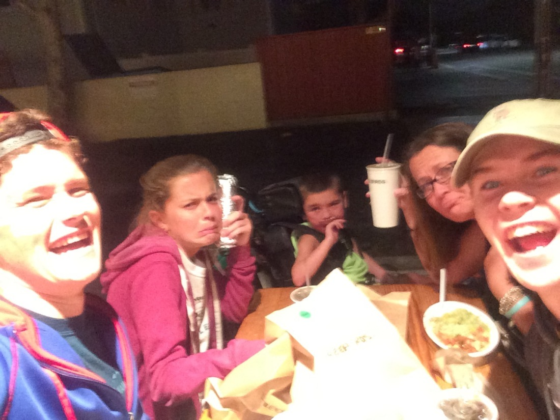 Our last dinner was Wilson's choice...SB local favorite FREEBIRDS!!!!