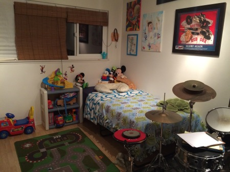 The most obvious changes are in Rudy's world...once we got Wilson's stuff all packed up or stored away, he helped me set up Rudy's half of the room!! Rudy LOVES it...so fun!