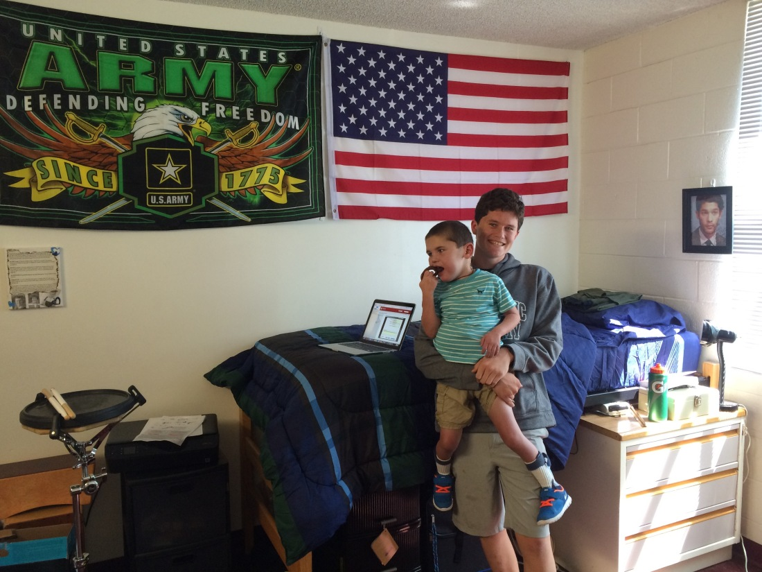 Bros checking out the dorm room!!