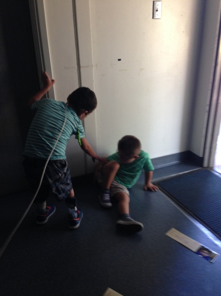 Rudy helping a classmate during a transition. ;)