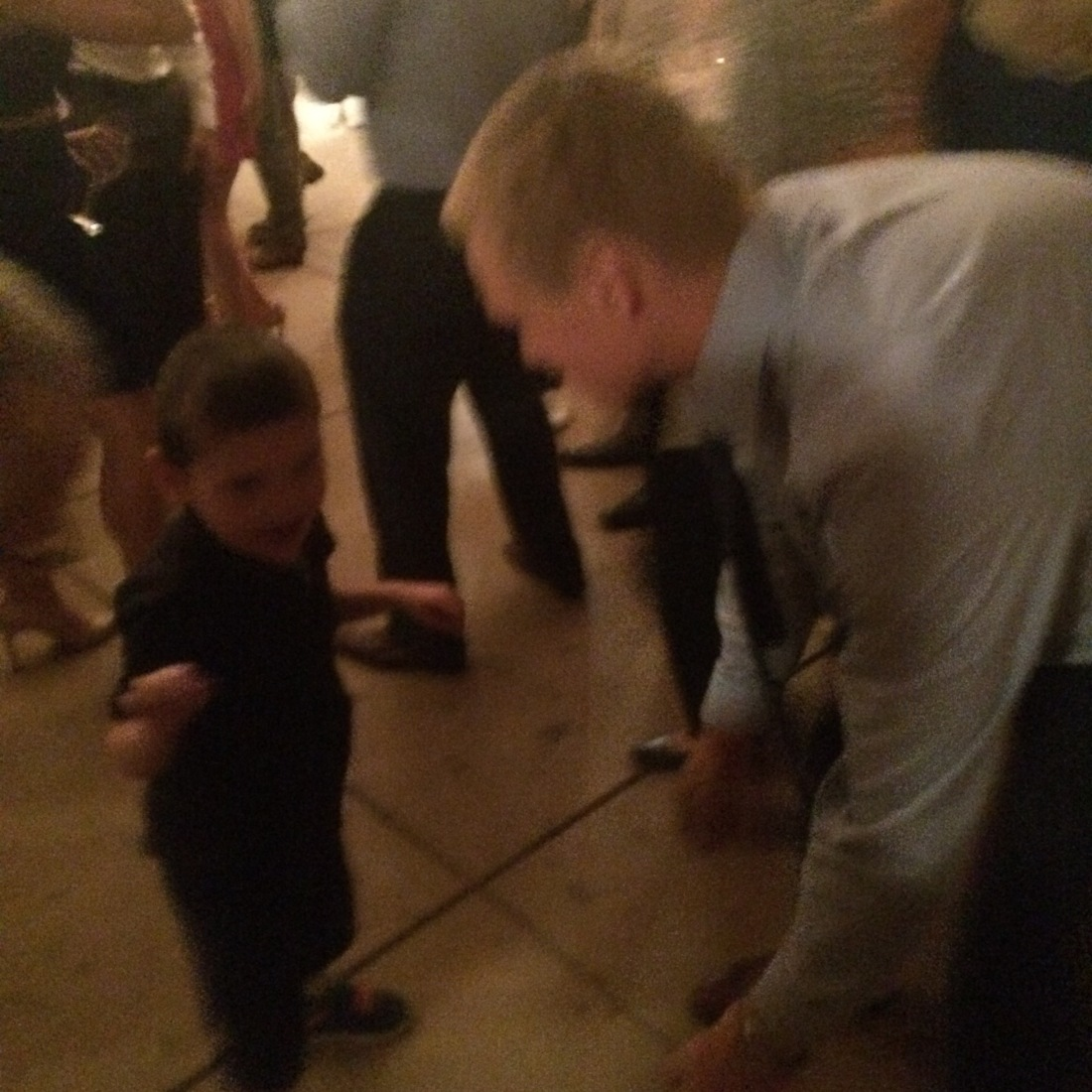 Rudy dancing with the groom!
