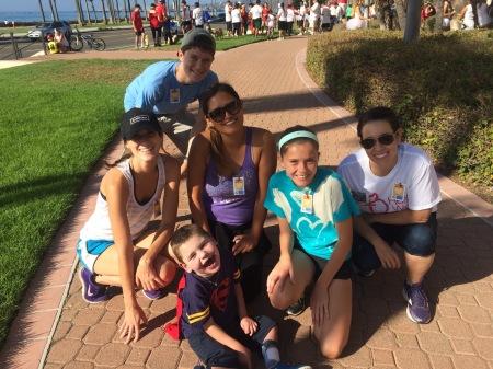 Rudy surrounded by Miss A., Max, Nurse Viviana, Olivia and CTICU Nurse Sarah E.!!