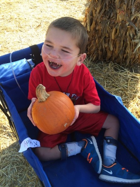 Rudy and his class enjoyed the annual field trip to Lane Farms' Pumpkin Patch last Thursday...Rudy found a perfect pumpkin!
