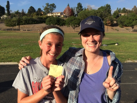 The winning streak continues...Olivia with her Bible Study leader Becky. :)