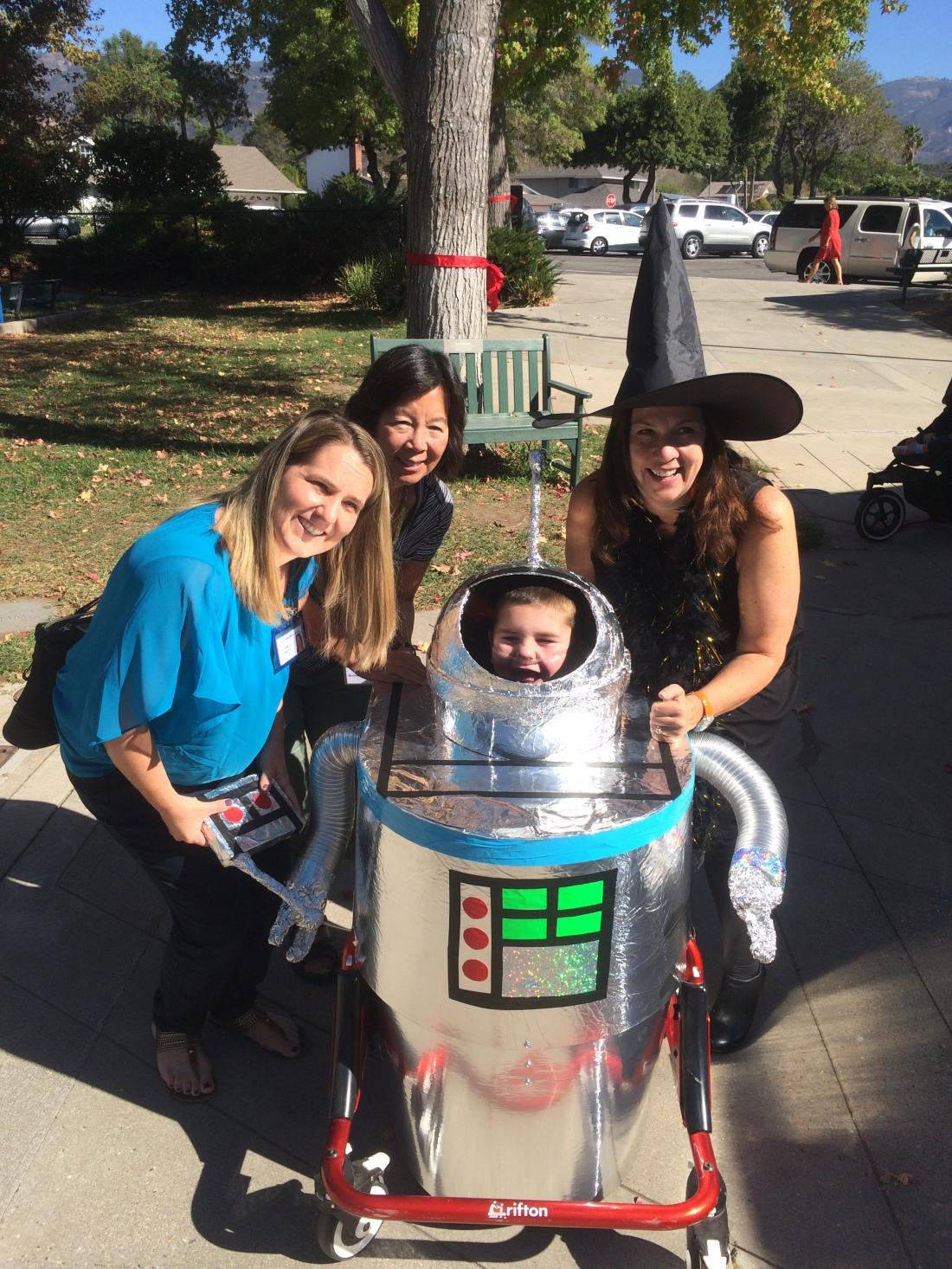 Rudy Robot with nurses Sara & Karen and office manager Jill!