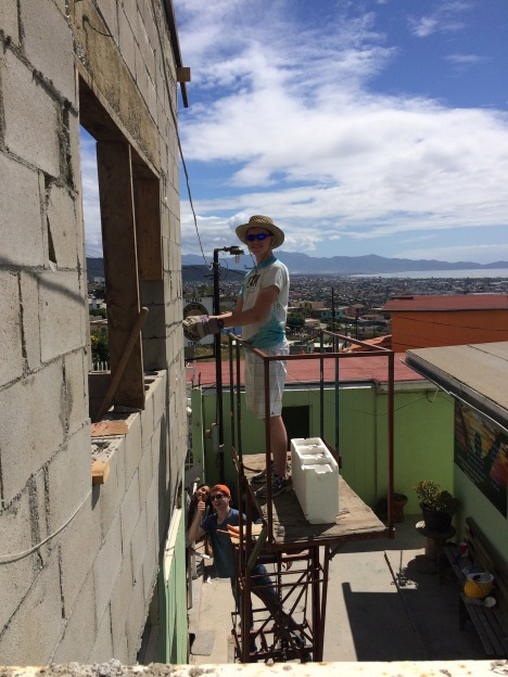 Max lending a helping hand in Ensenada