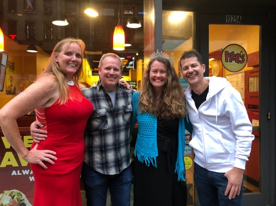 Tara, Scott and John are also former UWP cast mates and we had a mini-reunion at Moe's!